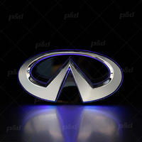 Directly Factory  Waterproof  5D Silver Chromed Front Embelm Light For Infiniti Q50